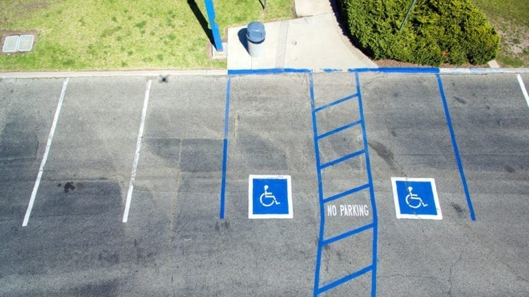Wheelchair users parking area